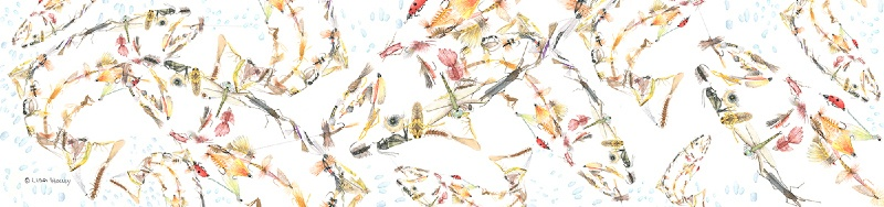 Trout Dry Flies White Scarf
